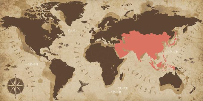 Asie - Carte