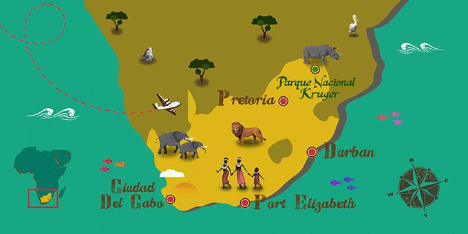 Afrique du Sud - Carte