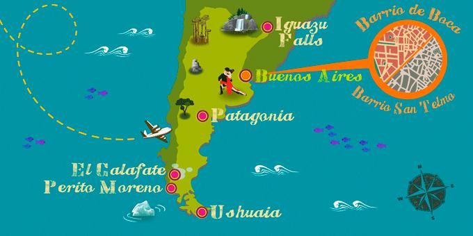 Argentine - Carte
