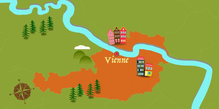 Autriche - Carte