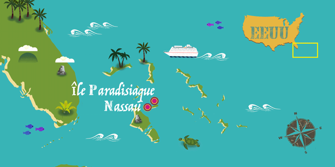Bahamas - Carte