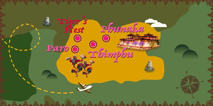 Bhoutan - Carte