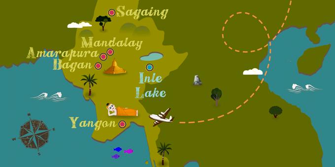 Birmanie - Carte