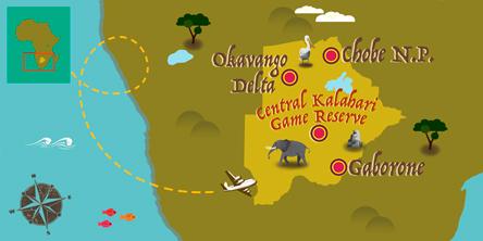 Botswana - Carte