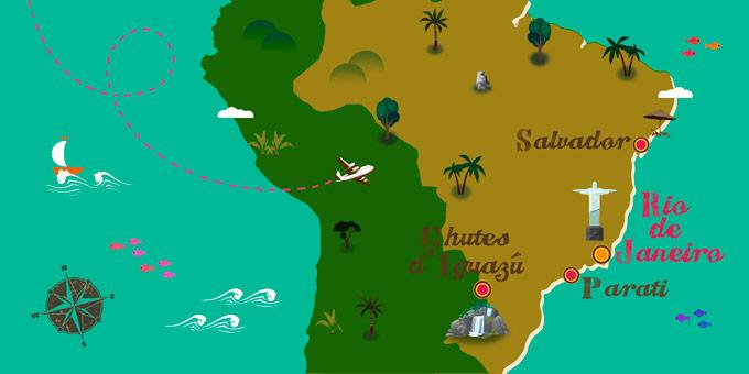 Brésil - Carte