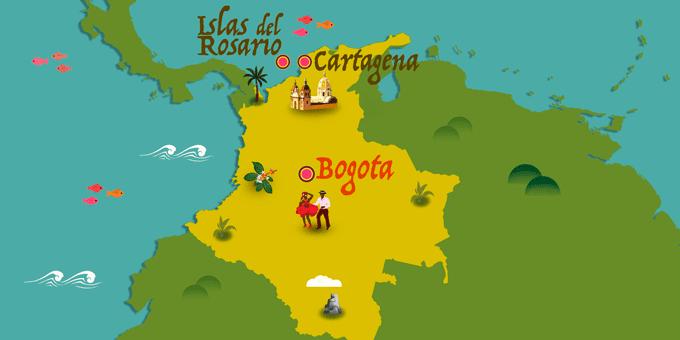 Colombie - Carte