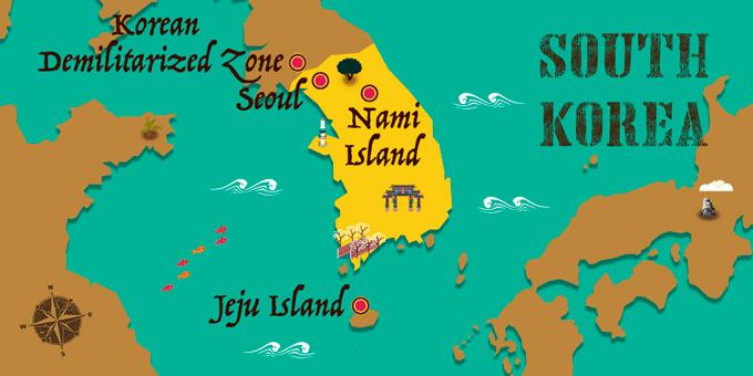 Corée du sud - Carte