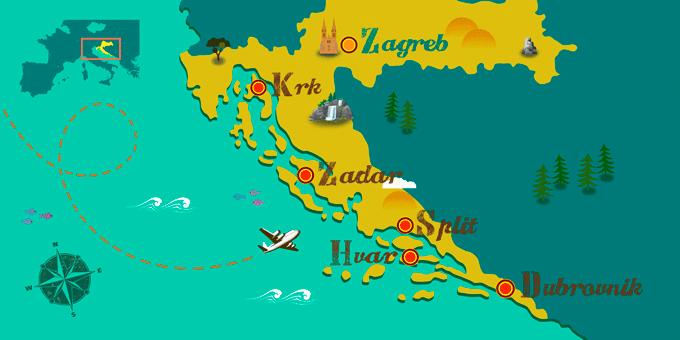 Croatie - Carte