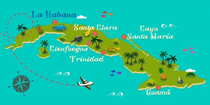 Cuba - Carte