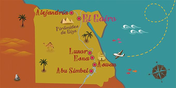 Égypte - Carte
