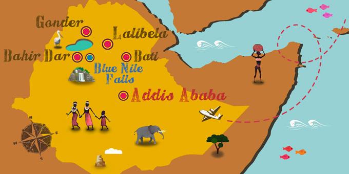 Éthiopie - Carte