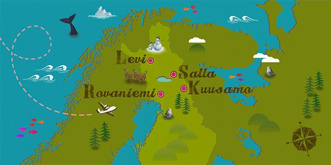 Finlande - Carte