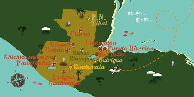 Guatemala - Carte