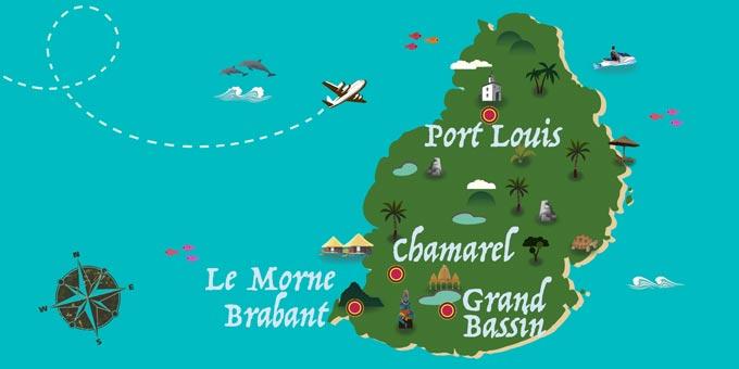 Île Maurice - Carte