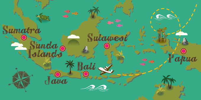 Indonésie - Carte