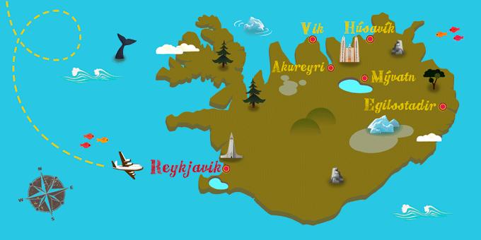 Islande - Carte