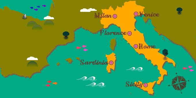 Italie - Carte