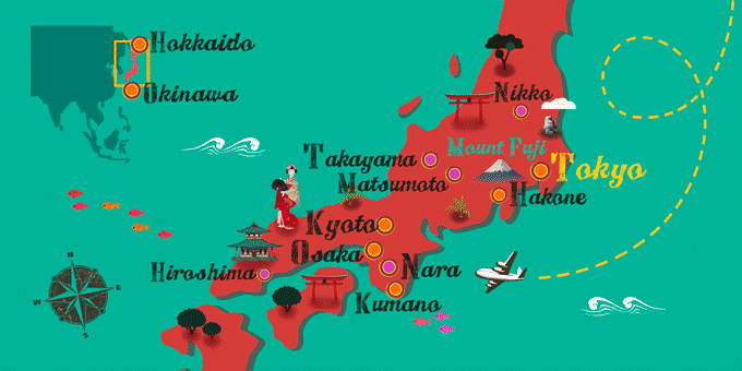 Japon - Carte