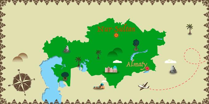 Kazakhstan - Carte
