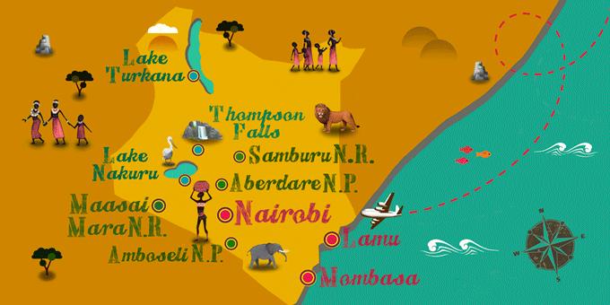 Kenya - Carte
