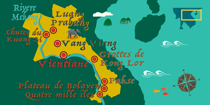 Laos - Carte