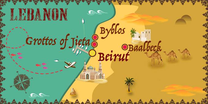 Liban - Carte