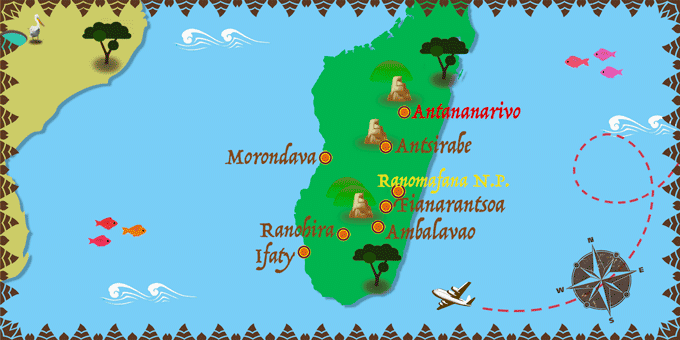 Madagascar - Carte