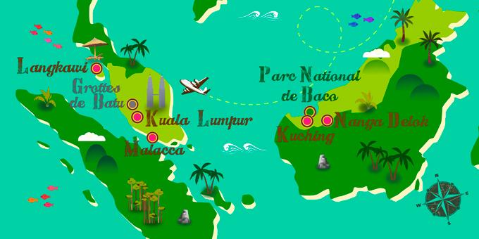 Malaisie - Carte