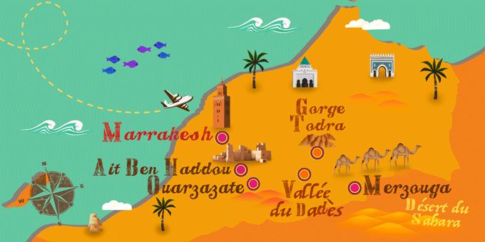 Maroc - Carte