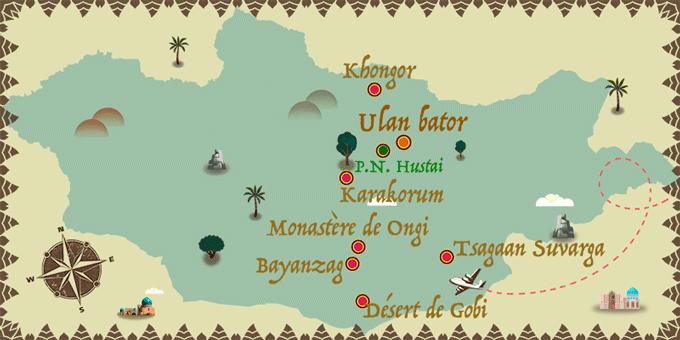 Mongolie - Carte