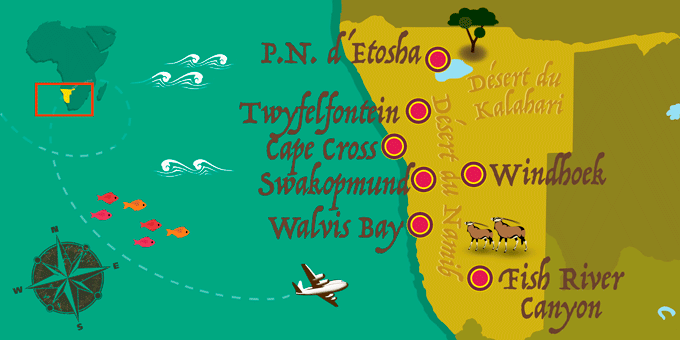 Namibie - Carte