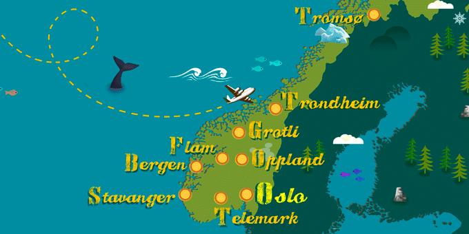 Norvège - Carte