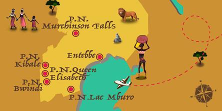 Ouganda - Carte