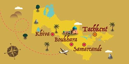 Ouzbékistan - Carte