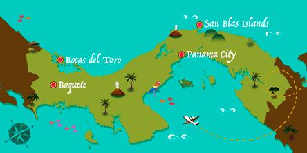 Panama - Carte