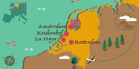 Pays-Bas - Carte