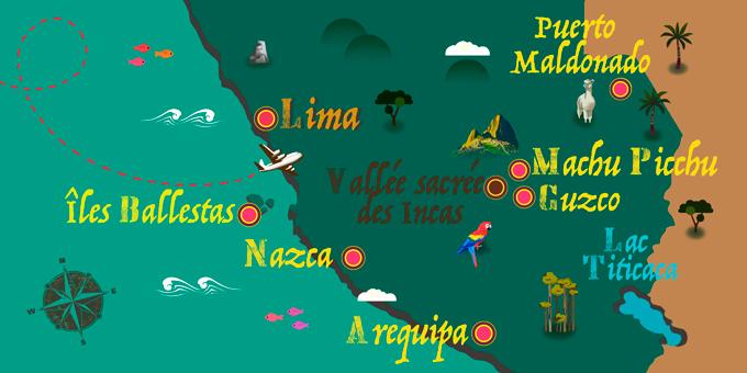 Pérou - Carte