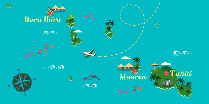 Polynésie française - Carte