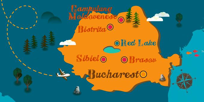 Roumanie - Carte