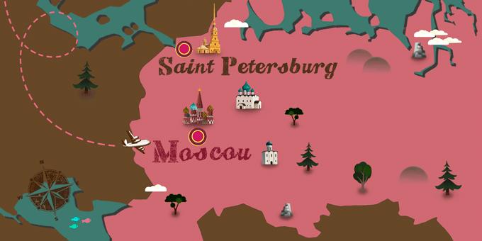 Russie - Carte