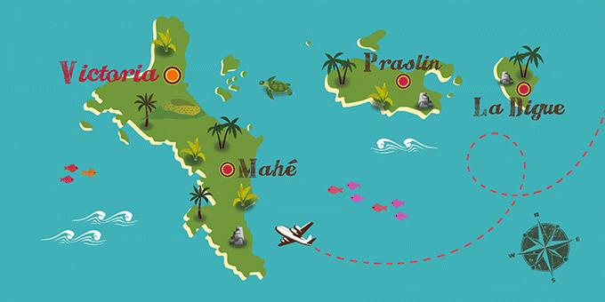 Seychelles - Carte