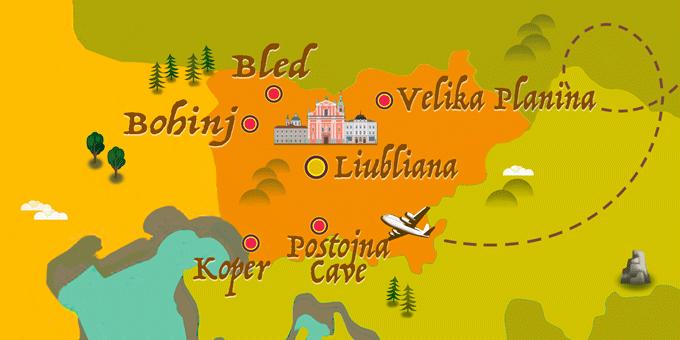 Slovénie - Carte