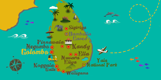 Pinnawala Carte Sri Lanka.Circuits Et Voyages All Inclusive Pinnawala Voyages