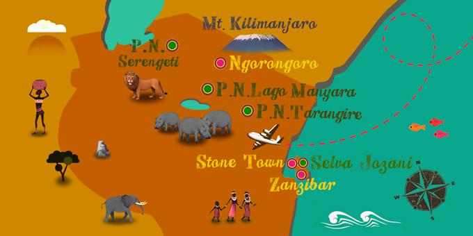 Tanzanie - Carte
