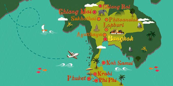 Thaïlande - Carte