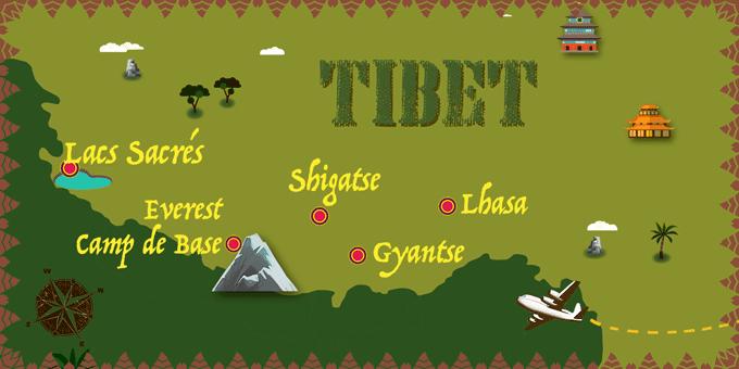 Tibet - Carte