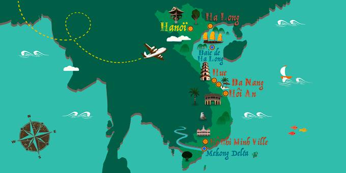 Vietnam - Carte