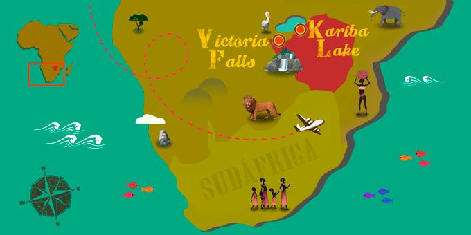 Zimbabwe - Carte