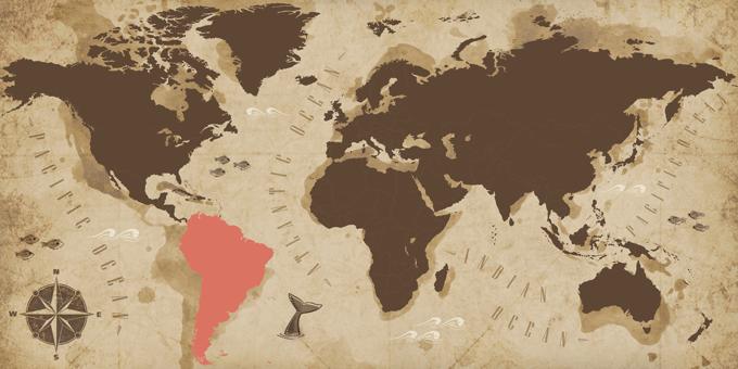 Amérique du Sud - Carte