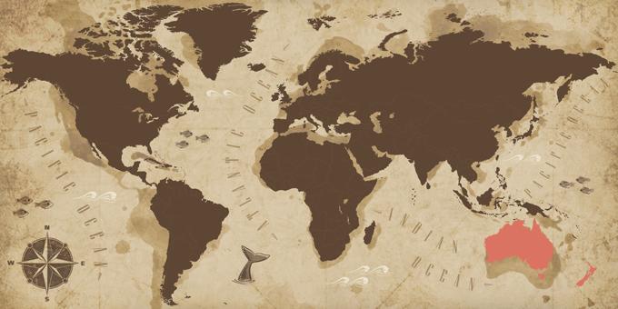 Australie et Nouvelle-Zélande - Carte